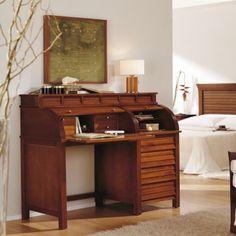Escritorio de Persiana Clásico Moncayo #Ambar #Muebles #Deco #Interiorismo | http://www.ambar-muebles.com/escritorio-de-persiana-clasico-moncayo.html