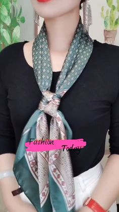 Ways To Tie Scarves, Ways To Wear A Scarf, How To Wear Scarves, Scarf Wearing Styles, Scarf Styles, Red Scarf Outfit, Scarf Tying Tutorial, Scarf Knots, Office Outfits Women