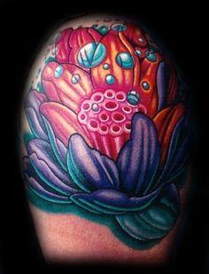 lotus flower tattoo sleeve