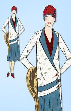 1920s VTG Ladies Home Journal Sewing Pattern 6098 Uncut Flapper Dress Sz 40 B | eBay