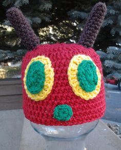 Hungry Caterpillar Earflap or Beanie by Evermicha on Etsy, $25.00