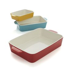 26 Trendy crate and barrel kitchen dishes baking Kitchen Dishes, Kitchen Sets, Kitchen Utensils, Kitchen Gadgets, Kitchen Dining, Baking Dishes, Kitchen Oven, Stoneware Bakeware, Kitchenware