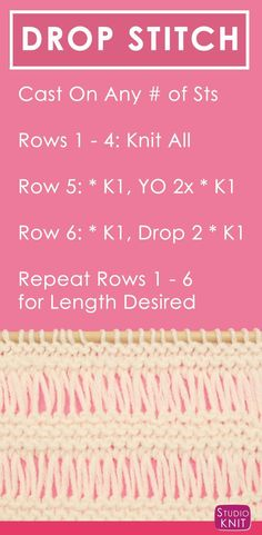 How to Knit the DROP STITCH GARTER Pattern with free knitting pattern and video tutorial by Studio Knit via @StudioKnit