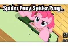 Oh my goodness. I never thought about that. On the one episode Pinkie Pie climbs up the fridge. Correct me if it's not a fridge.