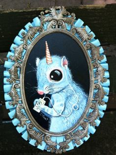 This is Unisquirrel and the Perils of Technology. He'll be in my July 4th Show at Delurk Gallery!