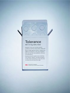 Tolerance. Ha I wish it really did come in pill form