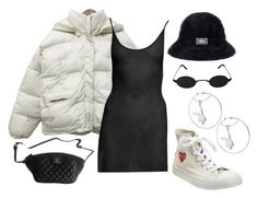 BNW by majormathilde on Polyvore featuring mode, Converse, Chanel, kangol, blackandwhite and CDG