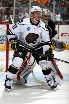 04.13.14 - Hershey Bears player, Kris Newbury.  Photo courtesy of JustSports Photography