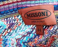 missoni clothing labels images - Google Search