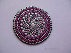 Mandala-Dot-Kunst, Kühlschrank-Magnete, Home Decor, Geschenke für sie, Meditation Mandala, Mandala, Mandala, Energie Heilung gemalt Mandala