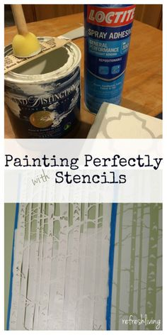 painting perfectly with stencils
