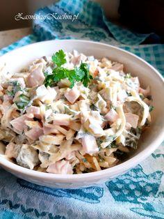 SAŁATKA SZWAJCARSKA – Zasmakuj Kuchni Salad Dishes, Salads, Cooking Recipes, Healthy Recipes, Polish Recipes, Pasta Salad, Salad Recipes, Potato Salad, Food Porn