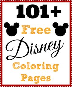 Over 101 FREE Disney coloring pages! Pin this one and keep for your kids! The Diary of a Real Housewife