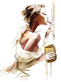 'Fashion Woman Portrait Digital' Graphic Art Format: Metal, Size: H x W x. - 'Fashion Woman Portrait Digital' Graphic Art Format: Metal, Size: H x W x… 'Fashion Woman Portrait Digital' Graphic Art Format: Metal, Size: H x W x D Illustration Vector, Illustration Sketches, Female Portrait, Woman Portrait, Fashion Art, Fashion Design, Trendy Fashion, Woman Fashion, Fashion Painting