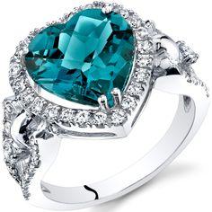 Peora.com - London Blue Topaz Heart Shape Halo Ring in 14K White Gold (4.00 carat), $269.99 (http://www.peora.com/london-blue-topaz-heart-shape-halo-ring-in-14k-white-gold-4-00-carat)