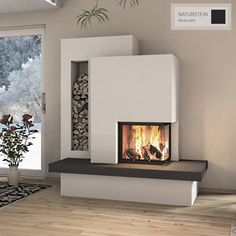 Contemporary Fireplace Designs, Modern Fireplace, Living Room With Fireplace, Living Room Decor, Fireplace Kits, Home And Living, Small Living, Home Interior Design, Living Room Designs