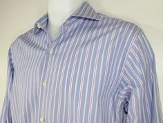 Brooks Brothers Slim Fit Dress Shirt Egyptian Cotton French Cuffs 15 1/2 - 34