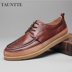 Tauntte 2017 New High Quality Men Genuine Leather Shoes Breathable Anti-Odor Casual Shoes Fashion Carving Flower Brogue Shoes #Affiliate