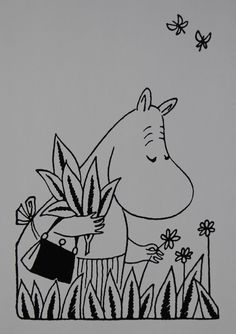 Tove Jansson's Moominmamma. Moomin Books, Book Illustration, Illustrations, Moomin Valley, Tove Jansson, Drawing Practice, Troll, Childhood, Quilts
