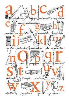 Alphabet Poster: A to Z of Musical Instruments