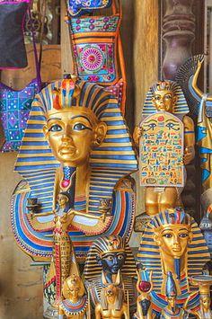 Goods for sale, Khan Al-Khali Bazaar, Cairo, Egypt, North Africa, Africa