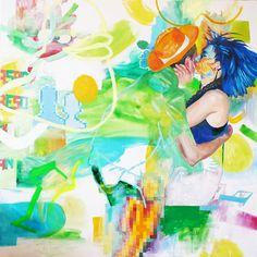 """Saatchi Online Artist Haruka Mukai; Painting, """"zero G paintings: 14_05_2012 #3"""" #art"""