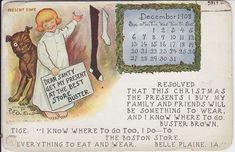BUSTER BROWN AD 1908 CALENDAR POST CARD, ARTIST SIGNED OUTCAULT | #287737712