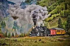 Steaming down the Valley by Eric Wulfsberg