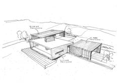Dixon House architecture design sketch