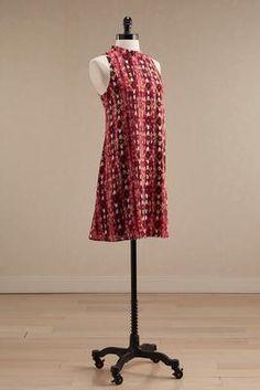 Versona abstract ikat mock neck shift dress #Versona