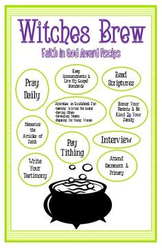 "Activity Day Ideas: Activity Days Faith In God ""Witches Brew"""