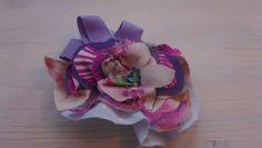 Handmade brooch in soft tissue, lilac-blue. beatrice.cianfrui@facebook.com