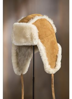 Crafted in genuine sheepskin double-faced from Spanish Merino sheep, this soft, protective hat gives you the premium insulation of sheepskin wool. Bennies Hats, Trooper Hat, Brand Character, Aviator Hat, Western Hats, Mens Gear, Scarf Hat, Winter Accessories, Survival Gear