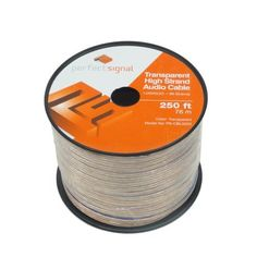 Car Home Audio Speaker Wire 14 Gauge 99 Strands 250ft by Perfect Signal. $42.00. Speaker wire is used to make the electrical connection between loudspeakers and amplifiers. The speaker wire you use can have a noticeable impact on the sound quality of your system. Even the greatest speakers won't sound their best with poor-quality wire. Our 14AWG/2C transparent speaker wire, which is made from 99 strands, will deliver the optimal sound experience.. Save 35% Off!