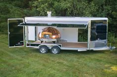 Enclosed Pizza Oven Trailer