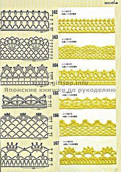 Coisas da Léia: 10 Novos Bicos em Crochê