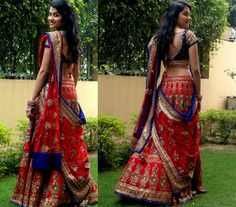 Like the skirt and the Gujju draping