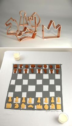 biscuit chess...not sure id make it through to check mate ;)