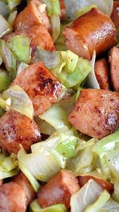 Kielbasa and Cabbage Skillet ~ This fast one-pan skillet dish is filling, full of flavor, and so easy