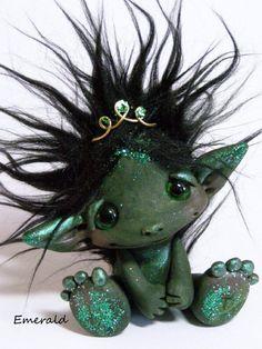 GreenMan Trollfling by CDHM Artisan Amber Matthies of The Trollflings Trolls, www.cdhm.org/user/trollgirl
