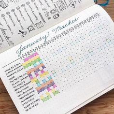 Monthly tracker page with outlined days that certain events should happen... This is genius