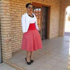 simple shweshwe dresses outfits 2017 - style you 7 South African Traditional Dresses, Traditional Dresses Designs, Seshweshwe Dresses, Dress Outfits, African Wear, African Dress, Corporate Fashion, African Fashion Dresses, Ethnic Fashion