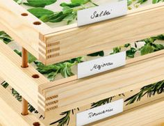 Knotty Pine Herb Drying Rack System