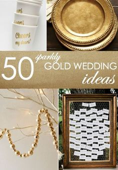 Gold is, and will continue to be, a hot color for weddings this year! It's elegant, undeniably fun, and like all good things – a little goes a long way. Read on as eBay shares fifty of the best ideas for bringing shimmering, glimmering gold into your wedding and reception!