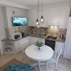 "213 Likes, 4 Comments - Александр Смеющев (@vis77) on Instagram: ""Проект 1-комнатной квартиры 43 кв.м. Для родителей жены. Кухня. #interiordesign #design #project…"""
