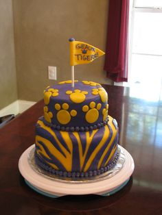 Pin Lsu Football Birthday Cakejpg Cake on Pinterest