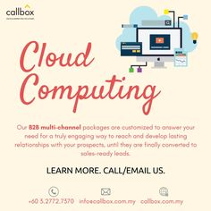 We help you identify businesses that requires cloud computing services. From email, to calling , to LinkedIn marketing, we can give you what you need and the right cost. Having been in the business for 11 years, we have amassed the right skills to generate industry-specific leads.