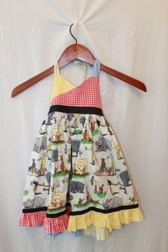 Vintage Curious George Girls Dress by myswagshack on Etsy