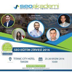 25 - 26 Kasım tarihlerinde Seo Akademi'nin düzenlemiş olduğu Seo Eğitim Zirvesi'nde Tasarım Optimizasyonu, Mobil Seo ve Sosyal Medya'da Seo Eğitimi vereceğim. Kayıt olmak için:  www.seoegitimzirvesi.com #seo #seoeğitimi #seoeğitimzirvesi
