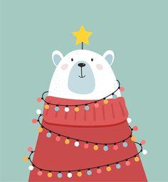 Christmas Doodles, Merry Christmas Greetings, Christmas Drawing, Christmas Cats, Christmas Greeting Cards, Vector Christmas, Illustration Noel, Christmas Illustration, Illustrations